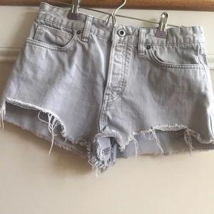 Free People gray denim shorts. Size 29